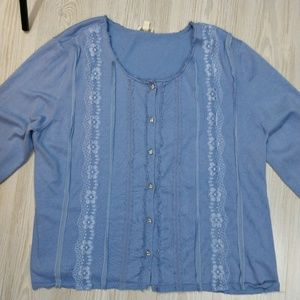 Sparkly Button Front Cardigan with Lace details
